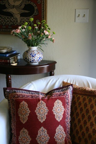 Red and Yellow cushion covers 1