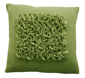 felted pillow, green pillow, eco-friendly pillow