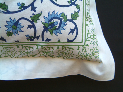 Saffron Marigold Moonlit Taj Pillow Cover