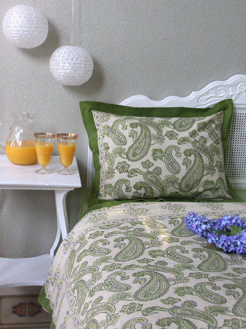 Paisley Fraiche Indian Cotton bedding