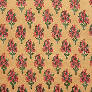 Orange Paisley Exotic Sari Print