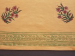 holiday napkins, ochre napkins, floral napkins, indian napkins