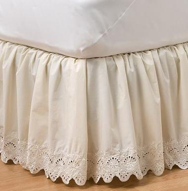 ivory bedskirt delicate