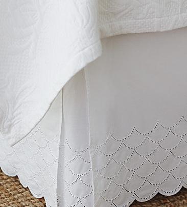 lacy bedskirt white feminine
