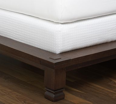 box spring cover white tailored