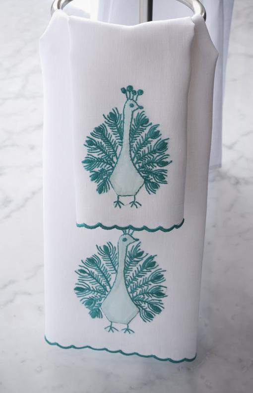 ideas for a peacock themed bath