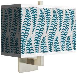 fancy fern peacock rectangular wall sconce