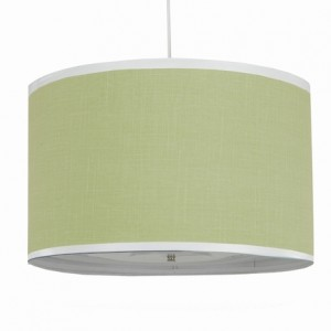 Large Cylinder Pendant Lamp in Lime Green - Rosenberry Rooms