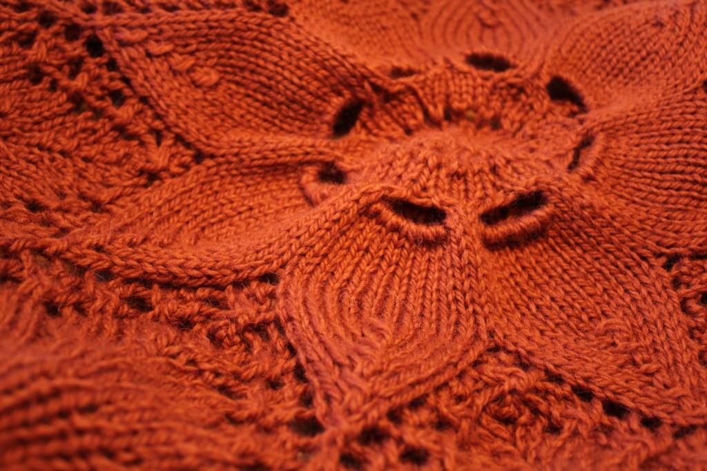 orange floral blanket
