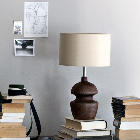 black walnut base table lamp