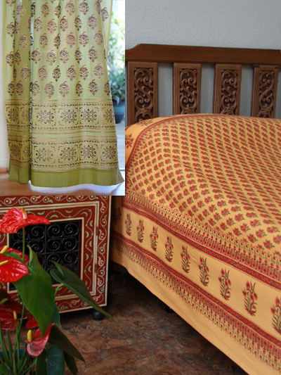 Indian Summer Duvet with Memories of Shalimar curtain