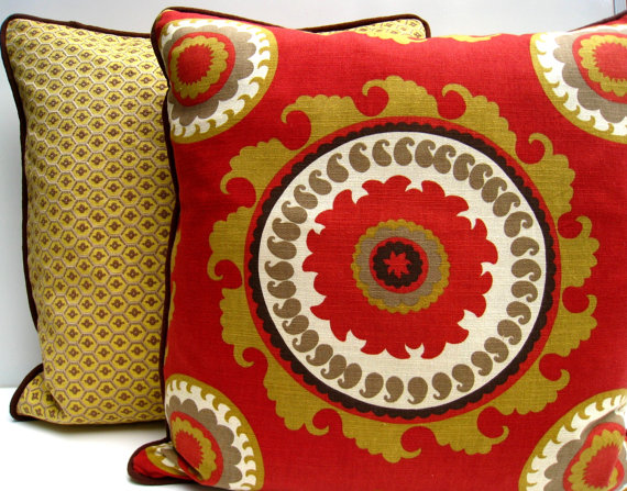 fall bohemian decorative pillow