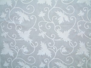 white floral tablecloth