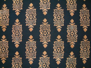 black and gold fall tablecloth