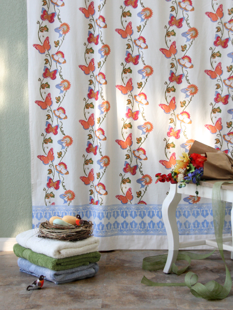Lap butterfly french country shower curtain jpg