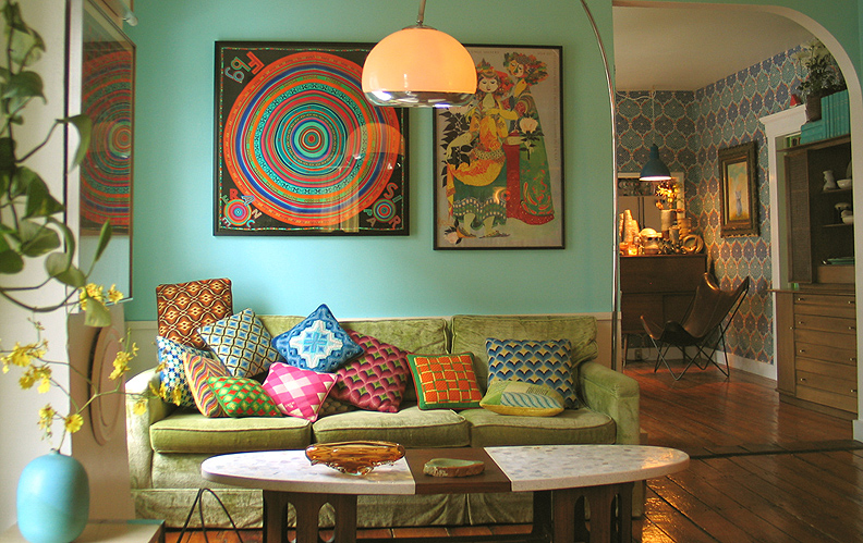 colorful global decor