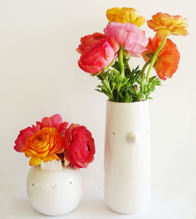 home decor with colorful flowers