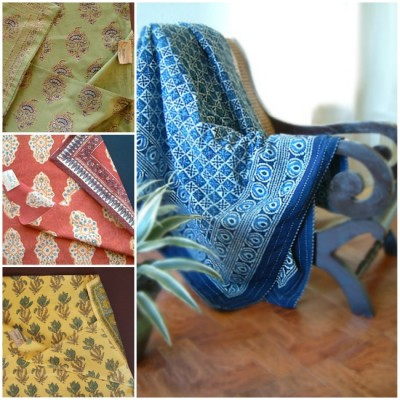 block printed throw pillow ideas