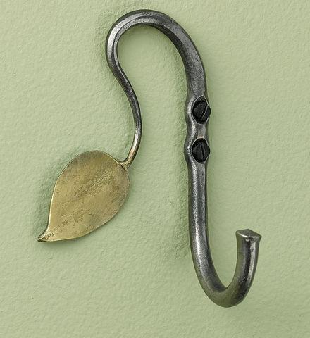Hand forged leaf hook, Gaiam