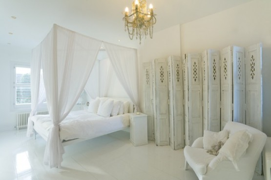 zen white bedroom