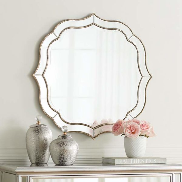 white and gold mirror for white and gold home decor