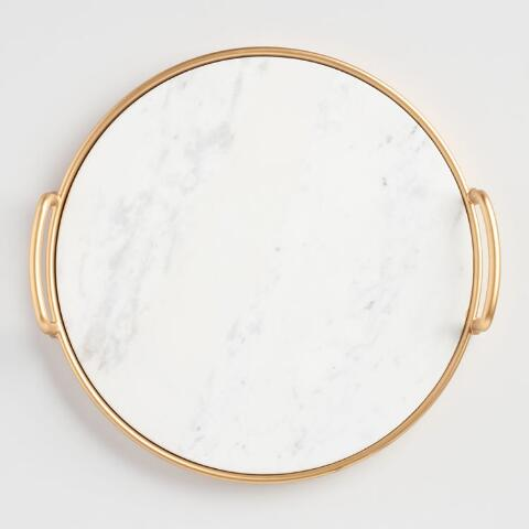 white and gold marble tray white and gold home decor