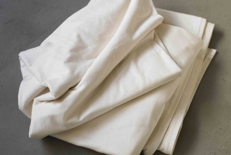 Ivory jersey sheets, Coyuchi