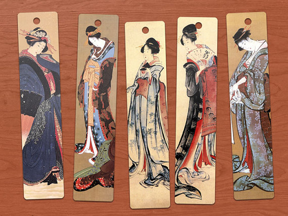 Hokusai Japanese Ladies bookmarks