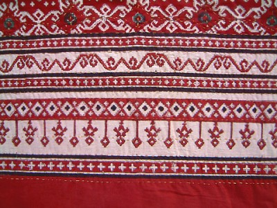 Border detail of Rby Kilim bedspreadu
