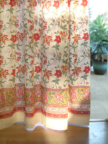 colorful country cottage tab top curtains