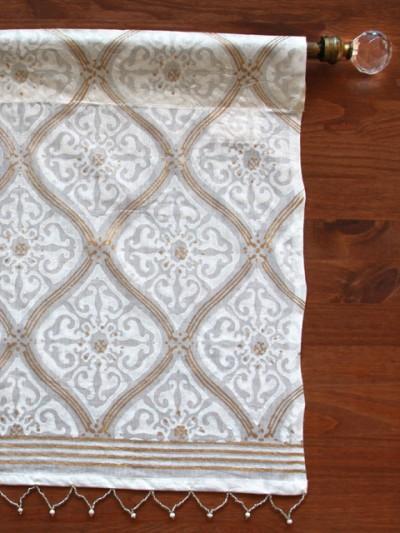 White Gold Romantic Elegant Luxury Window Valance