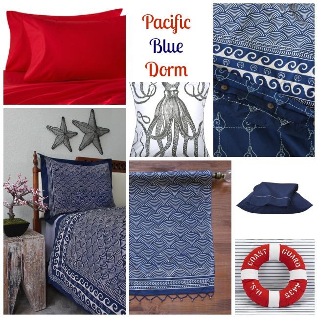 Pacific Blue Dorm Decor
