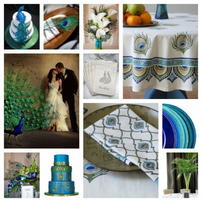 Ideas for a Peacock Wedding
