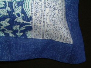 blue asian pillow sham
