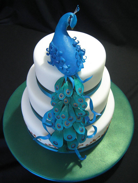 peacock cakes