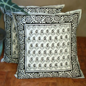 black and white euro shams