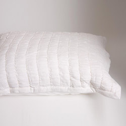 ruched white pillowcase
