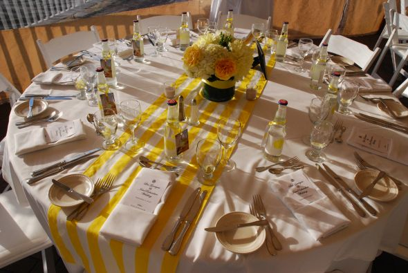 How to use table runners on round tables…