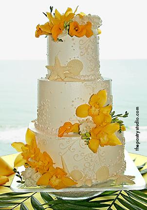 wedding cake pictures tropical flowers