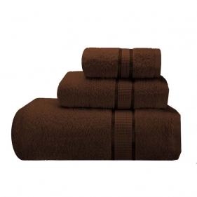 Chocolate brown bath towels