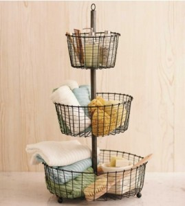 bath storage baskets