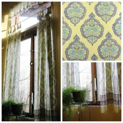 yellow and blue moroccan curtains