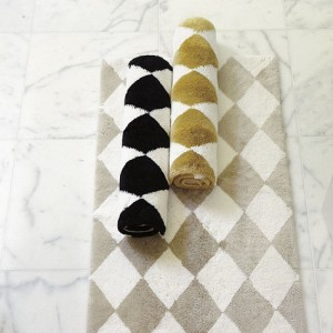 harlequin bath mat gold diamonds