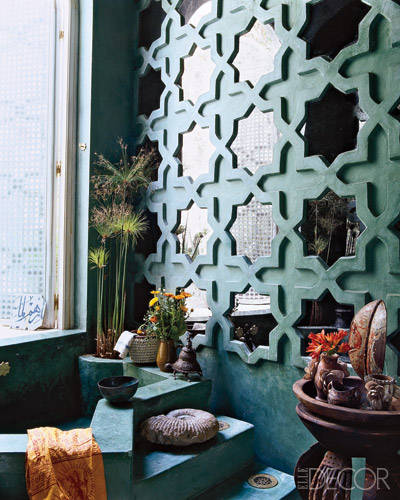 moroccan mirror wall