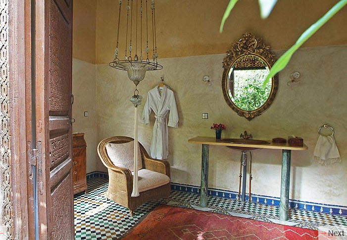red moroccan bathroom