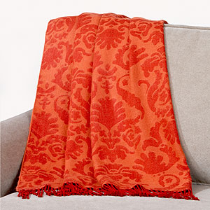 orange red throw