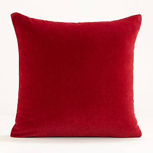 exotic red throw pillow