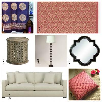 Moroccan style living room decor