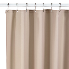 neutral fabric shower curtain liner