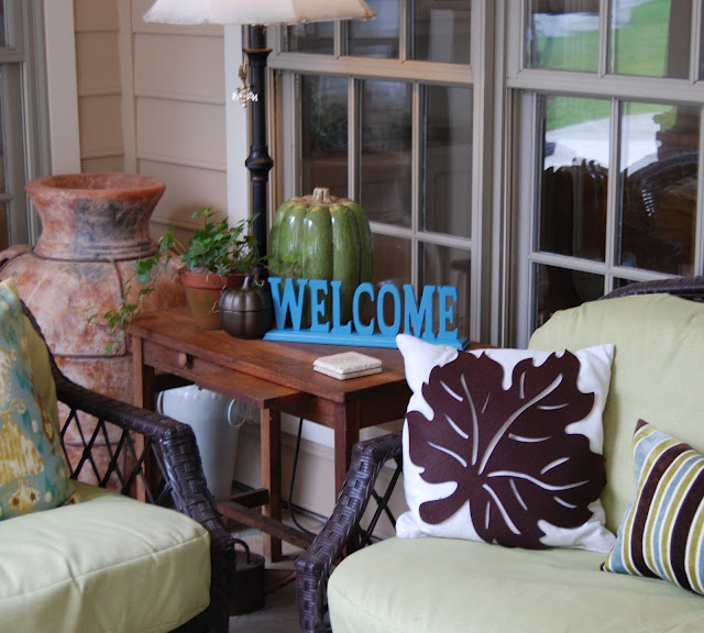 ideas for fall front porch
